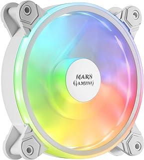 Mars Gaming MFXW, Ventilateur PC 12cm, ARGB DUAL, Ultra silencieux 14db, Blanc