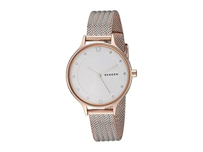 Skagen Anita Three-Hand Watch (SKW2749 Two-Tone Stainless Steel Mesh) Analog Watches