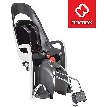 Hamax Caress Rear Child Bike Seat - Frame Mount, Ultra-Shock Absorbing, Adjustable to Fit Kids (Baby Through Toddler) 9 mo - 48.5 lb.