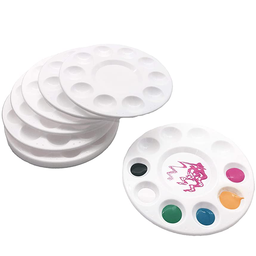 12 Pcs Round Paint Tray Palette 11 Wells 6.7 inch?for DIY Craft Professional Art Painting