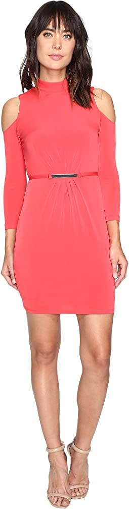 Cold Shoulder Mock Nuck Dress