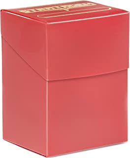 Stratagem The Big Box Card Deck Box with Divider, Red - Oversized TCG Box - Pokemon, Yugioh!, Magic The Gathering, Baseball Cards - Trading Card Games, Board Games, Sleeved or Unsleeved Cards