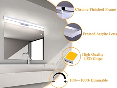 Cloudy Bay 3 Color Classic Acrylic Modern LED Vanity Light Fixture for Bathroom,48 inch 40W CRI90+ 2800LM Dimmable,3000K/ 400