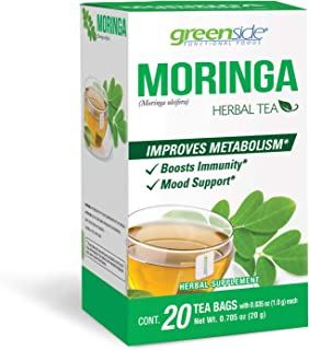 Moringa Herbal Tea Boost Metabolism and Mood Support 20 tea bags/ 2-pack 40 bags total