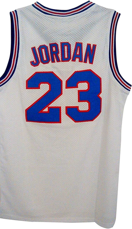 Elvironadio Youth Jordan 23 Space Jam Jersey Kids Basketball Jersey White