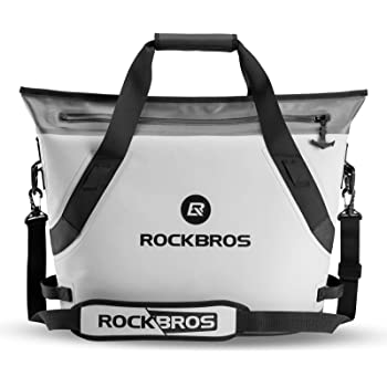 ROCK BROS Soft Cooler Portable Large Beach Cooler 36 Can Leak-Proof Soft Sided Cooler Insulated Soft Pack Cooler Waterproof for Beach, Camping, Fishing, Floating, Outdoor Activities, Party, Picnic
