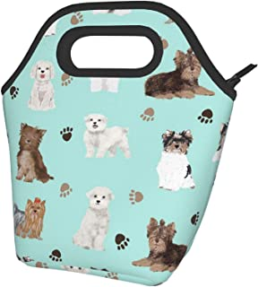 Sponsored Ad - antfeagor Yorkie Maltese Biewer Terriers Dogs Portable Lunch Bag Insulated Cooler Tote Box for Travel/Picni...