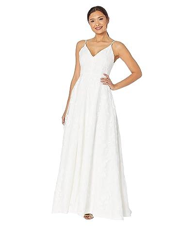 Calvin Klein Embroidered Gown (Cream) Women