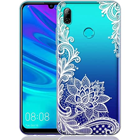 ZhuoFan Coque Huawei P Smart 2019, Etui en Silicone 3D Transparente avec Motif Peinture Dessin Antichoc TPU Housse de Protection Coque pour Téléphone ...