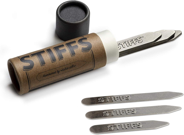 Stiffs by Wurkin Stiffs 10 Pack Assorted Size Brass Collar Stays