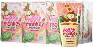 Happy Monkey Strawberry and Banana Smoothies (Pack of 24), 4320 ml