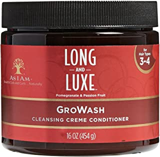 As I Am Long And Luxe Pomegranate & Passion Fruit (16oz, GroWash Cleansing Creme Conditioner