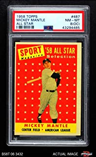 1958 topps mickey mantle all star