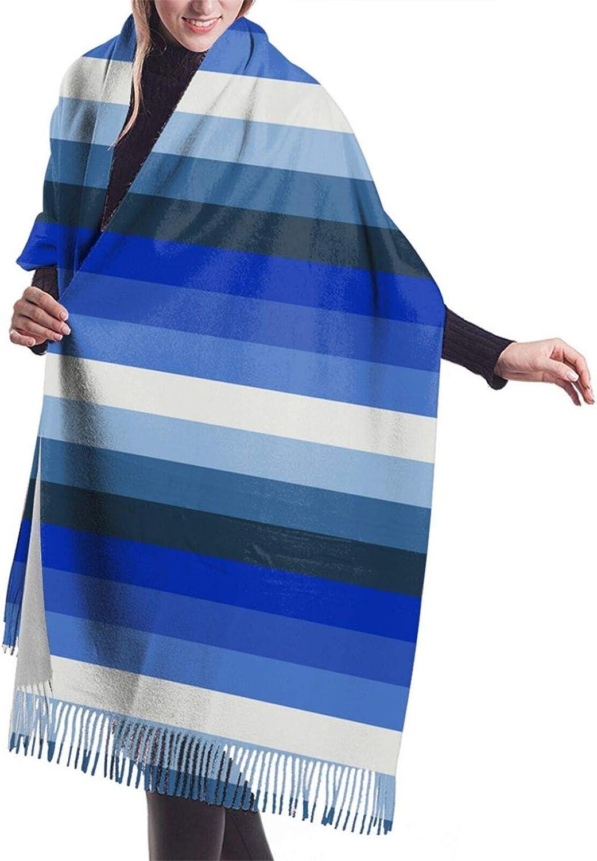 Womens Comfortable Cashmere Scarf,Blue Gay Pride Flag Shawl Scarf,Premium Large Pashmina,Warm Wrap Cape Solid Shawl Elegant Wrap