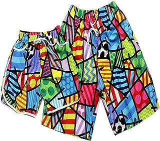 RONSHIN Shorts for 2pcs/Set Colorful Quick Drying Shorts Summer Beach Pants for Men Women