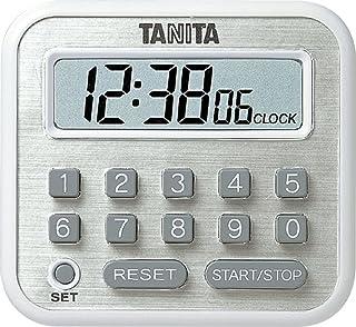 タニタ タイマー マグネット付き テンキー 100時間 ホワイト TD-375 WH 研究や実験に最適