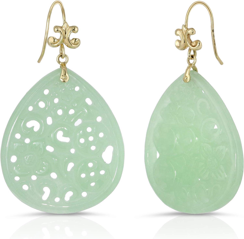 Green Onyx Earrings Faceted Long AAA Drop Dangle Large Narrow Teardrop Sterling Silver or 14k Gold Filled Rich Emerald Green Color Drops
