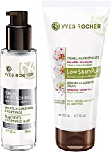 Yves Rocher Exceptional Serum Beautified & Fortified Hair 30 ml./1 fl.oz. + Yves Rocher Low Shampoo - Delicate Cleansing Cream, 200ml./6.7 fl.oz.
