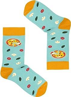 FAVES. Socks&Friends, Pizza Calcetines para niños en talla 26-30 coloridos alegres divertidos calcetines de algodón
