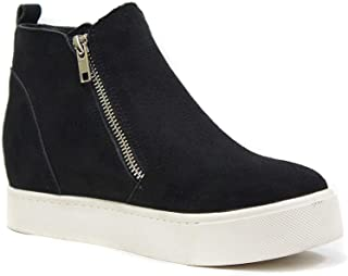 Soda Taylor Hidden Fahsion Wedge Sneaker Shoes Side Zipper
