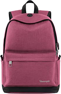 pink lining rucksack