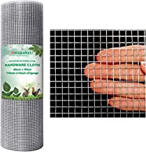 Amagabeli 48x50 Hardware Cloth 1/4 inch Square Galvanized Chicken Wire Welded Fence Mesh Roll Raised Garden Bed Plant Supp...