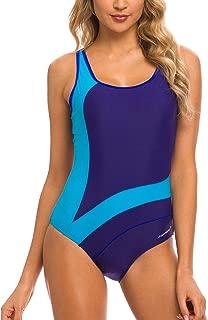 Women Athletic One Piece Swimsuits Racerback Swimwear Bathing Suit