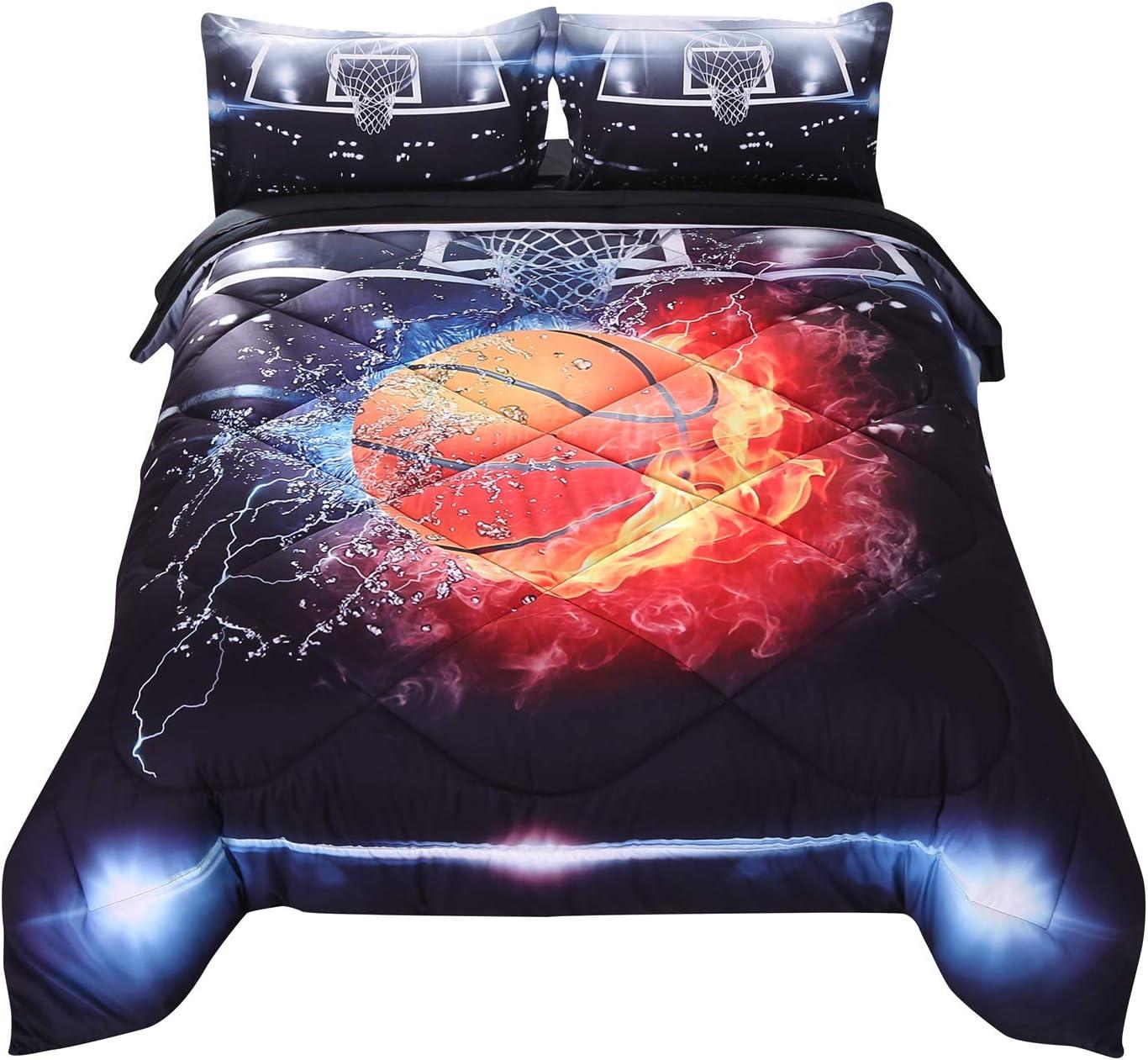 Wowelife Basketball Bedding 25% OFF 3D Fir Set Ranking TOP9 Comforter Twin
