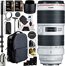 $1839 » Canon EF 70-200mm f/2.8L is III USM Telephoto Zoom Lens for EF Mount DSLR Cameras Bundle with Deco Gear 3-in-1 Camera Case, Backpack, Carry On Bag + Monopod + Lens Sleeve Kit and Accessories