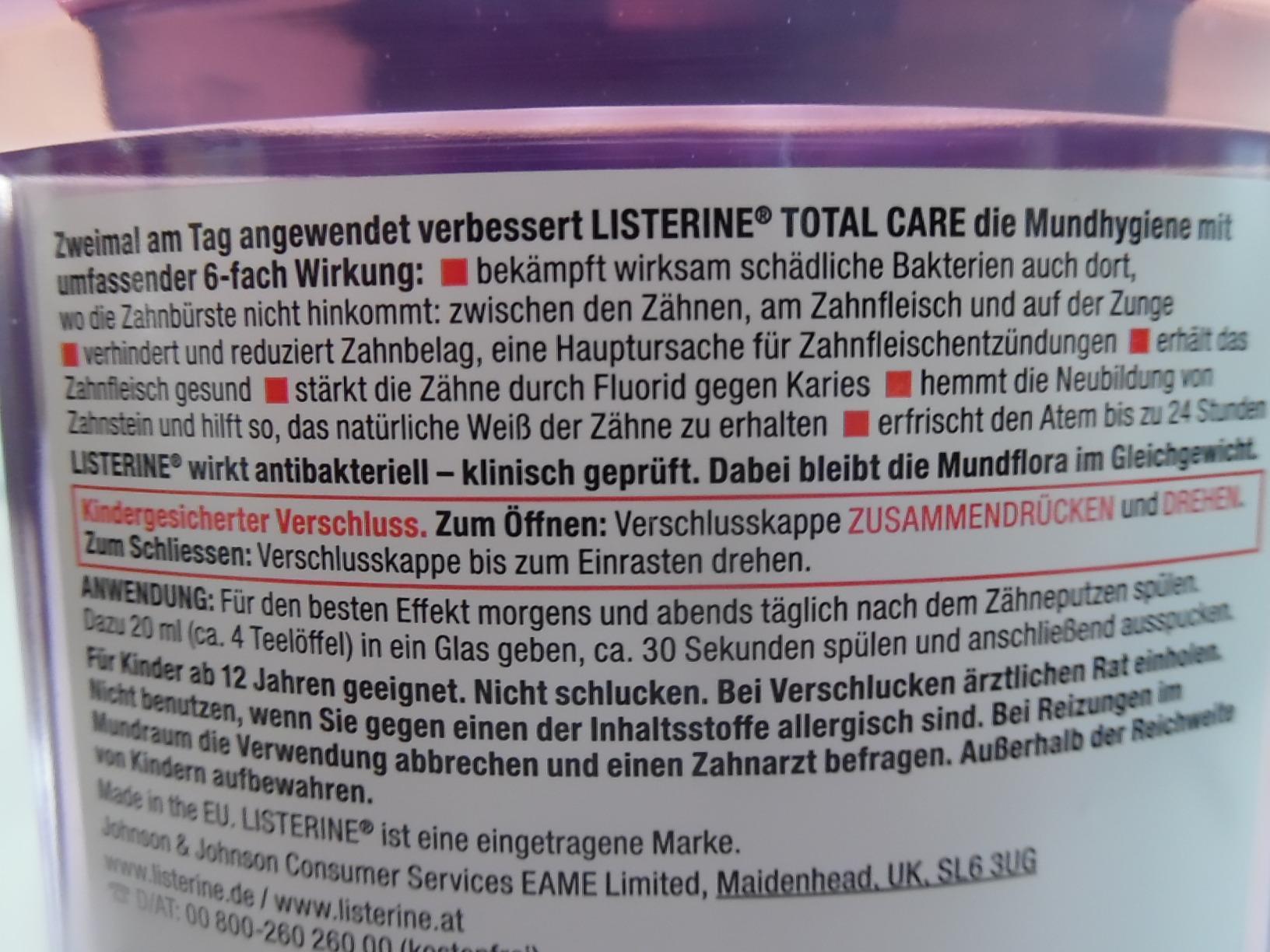 Alkohol listerine ist in prozent wieviel Listerine /