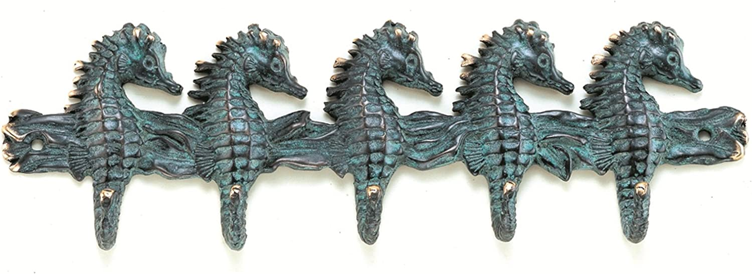 Antique Reproduction Brass Seahorse Sea Wall Hook 30690