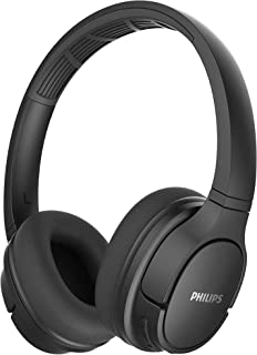 PHILIPS Wireless Over Ear Bluetooth Headphones- Bluetooth 5.0 and Powerful Bass, Lightweight with Soft Ear Cushions, IPX4 Waterproof with 20 Hour Playtime