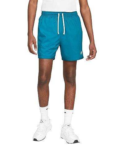 Nike NSW Woven Flow Shorts (Green Abyss/White) Men