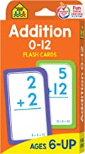 School Zone - Addition 0-12 Flash Cards - Ages 6 and Up, 1st Grade, 2nd Grade, Numbers 0-12, Math, Problem Solving, Additi...