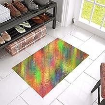 Color Abstract Textures Pattern Unique Debora Custom Bathroom Accessories Non-Slip Bath Mat Rug Bath Doormat Floor Rug 23....
