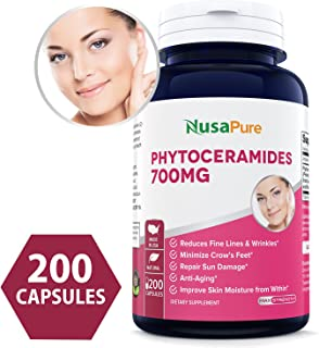 Phytoceramides 700mg 200 Capsules (Non-GMO & Gluten Free) Powerful Skin Repair & Rejuvenation ✮ All Natural Plant Derived Anti-Aging Powerhouse for Reduced Fine Lines & Wrinkles