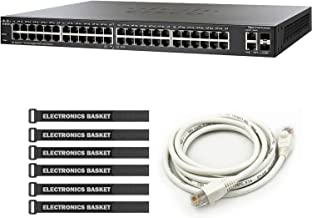 Cisco SG250-50 50-Port Gigabit Smart Switch + 5-Foot Ethernet Cable + Cable Ties - SG250-50-K9-NA