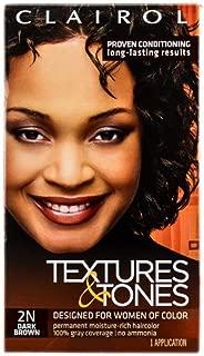 Clairol Textures & Tones 2N Dark Brown, 1 ea (Pack of 4)