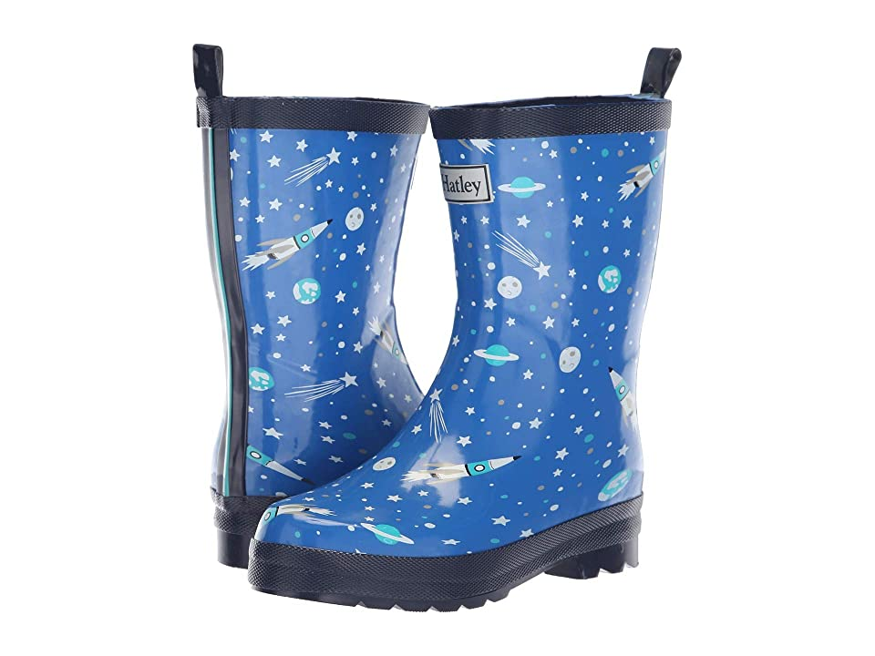 Hatley Kids Limited Edition Rain Boots (Toddler/Little Kid) (Athletic Astronauts Blue/Navy) Boys Shoes