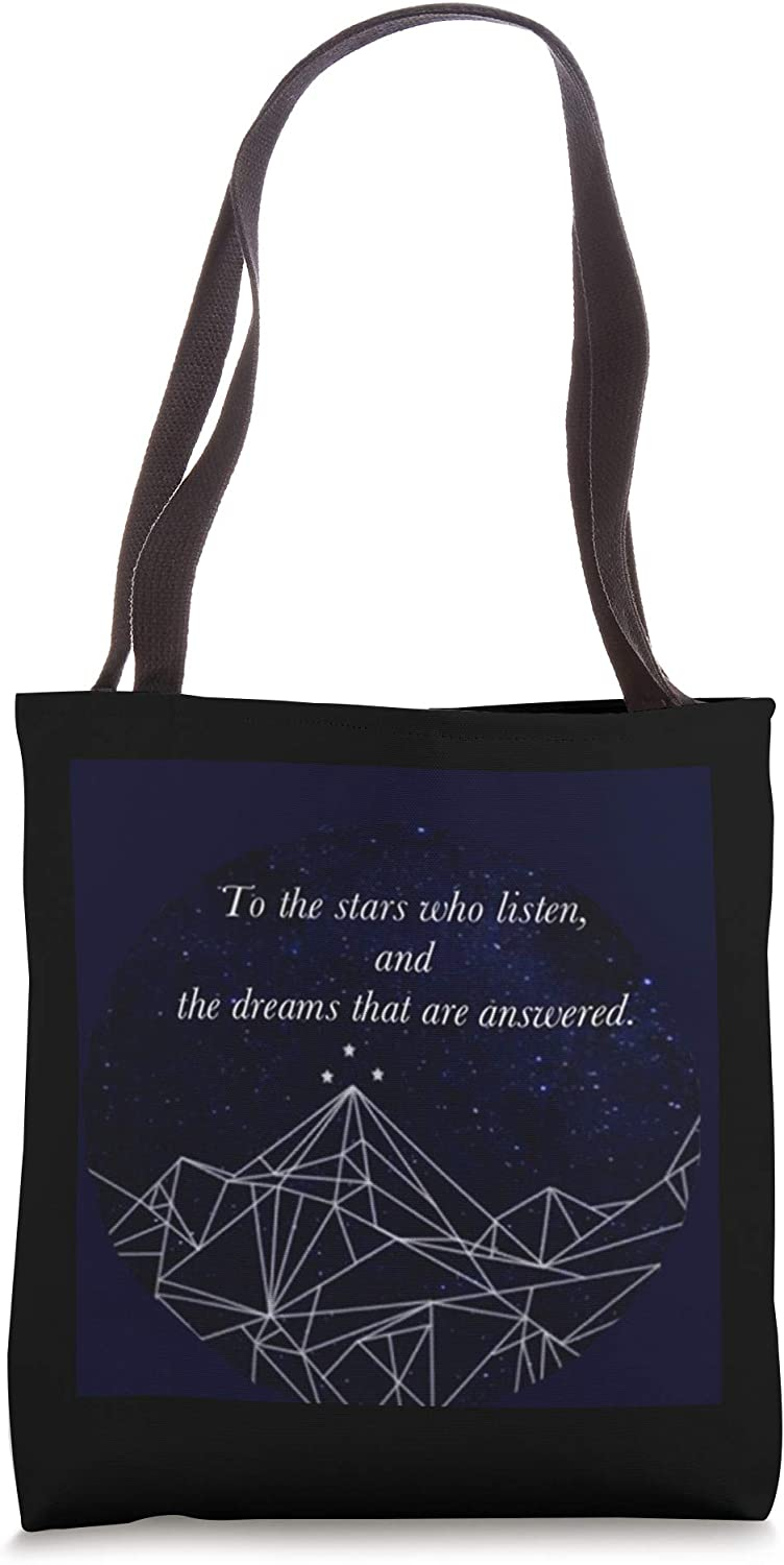 Bookworm ACOMAF To the Stars Night Court Bookish Tote Bag