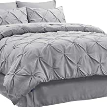 Bedsure Queen Comforter Sets Bedding Comforters & Sets Bed in A Bag 8 Pieces Grey - 1 Comforter Queen (88x88 Inches), 2 Pillow Shams, 1 Flat Sheet, 1 Fitted Sheet, 1 Bed Skirt, 2 Pillowcases