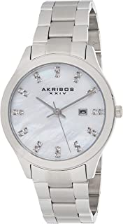 Akribos Xxiv Women's Analogue Quartz Watch With Stainless-Steel Strap