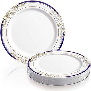 (26cm dinnerplates(120plates)) - Kaya Disposable Plastic 26cm Dinner Plates Harmony Design (120 plates)