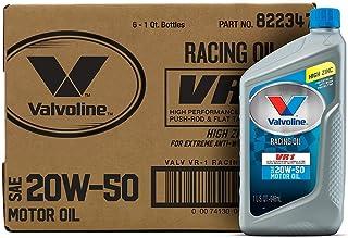 Best Valvoline - 822347-CS VR1 Racing SAE 20W-50 Motor Oil 1 QT, Case of 6 Review