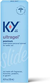 K-Y Ultragel Lube, Personal Lubricant, Water-Based Formula, Safe to Use with Silicone Toys, For Men, Women and Couples, 4....