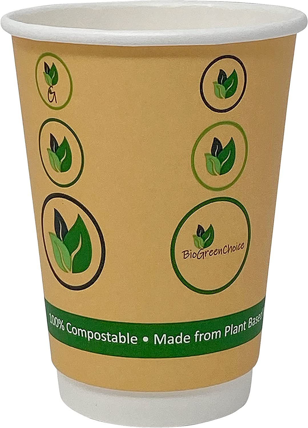BioGreenChoice 12 oz. Compostable Eco-friendly Cup Special Campaign Seattle Mall Bio with Hot