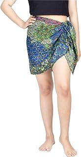 فساتين LOFBAZ النسائية نصف لف ملابس سباحة بدون شراشيب للشاطئ