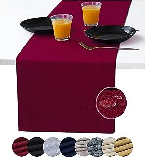 Red Table Runner 120 inch, Coffee Table Runner, Burgundy Waterproof Long Dresser Scarf, Outdoor Dining Table Runners, Cran...