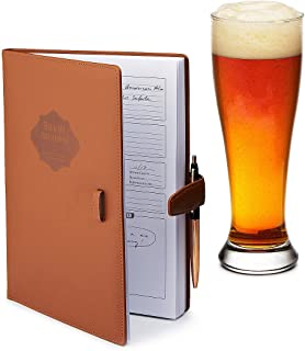Home brew Journal for Craft Beer Homebrewers | Homebrew Logbook w/ space for 70+ recipes | Beer Glassware Reference, Beer ...