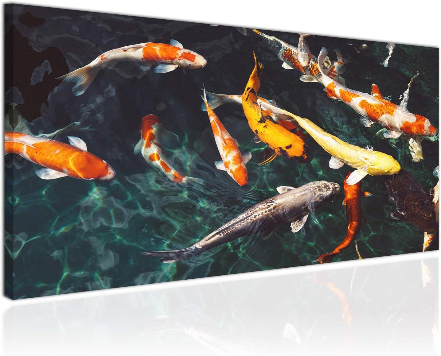 2x moderne Goldfisch Karpfen 3D Wandbild für Home Wohnzimmer Schlafzimmer